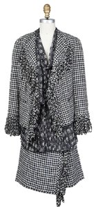 Chanel Houndstooth Skirt Suit 07A