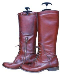 Frye Ralph Lauren Pendleton Leather Redwood Boots