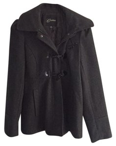 Guess Wool With Hood Pea Coat