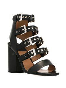 Laurence Dacade Rocker Buckles Black Sandals