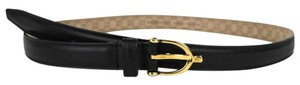 Gucci New Gucci Women's Black Belt w/Stirrup Buckle Size 90/36 309900 1000
