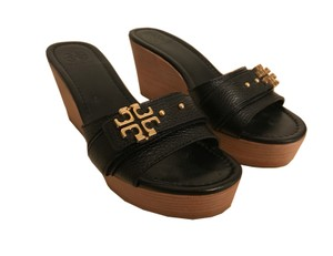Tory Burch Wedges Black Sandals