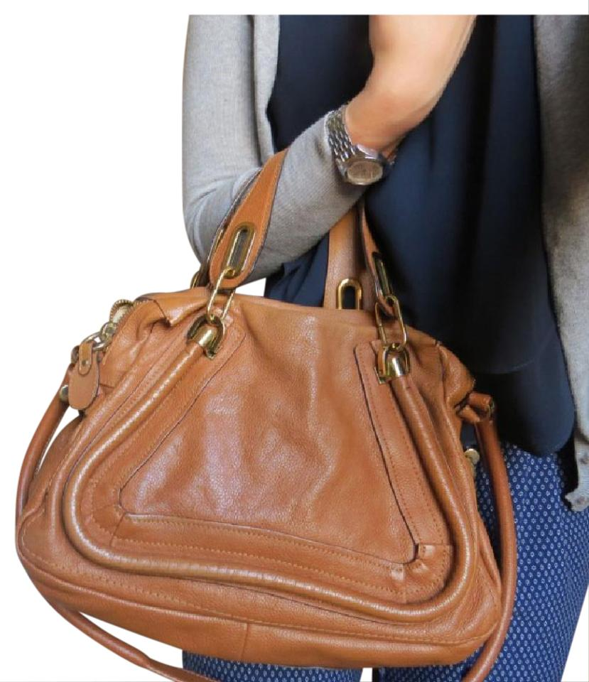 7043bf295180 Chloé Paraty Tan Leather Satchel - Tradesy