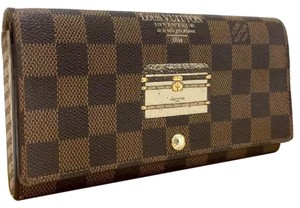 Louis Vuitton Louis Vuitton Damier Trunks and Locks Porte Feuille Sarah Long Bifold Wallet