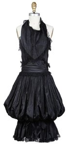 Chanel 06p Taffeta Puff Lace Dress