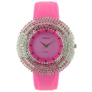 Geneva Rhinestone Face Watch