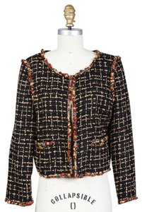 Chanel Boucle Cropped black, yellow, red Jacket