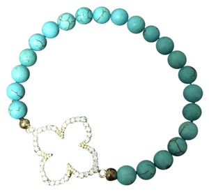 Fashion Cross Fashion CZ Cross with Turquoise Beads
