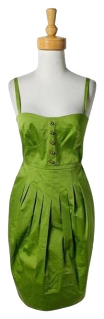 Item - Green Lime Gold Mid-length Short Casual Dress Size 0 (XS)
