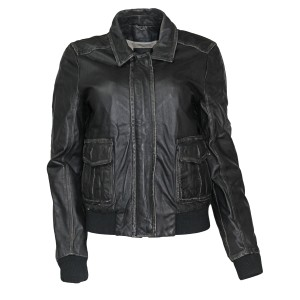 J.Crew Leather Flight/bomber Distressed Leather Jacket