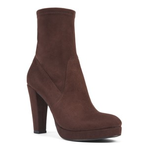 Nine West Taupe Pull-on Heeled Brown Boots
