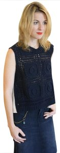 Sea New York Knitted Sleeveless Top Blue