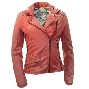 DOMA Leather Pre-owned Soft Salmon/orange Leather Jacket