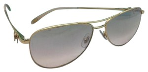 Tiffany & Co. TIFFANY & CO. Sunglasses TF 3044 6002/59 Gold Aviator w/ Brown Pink