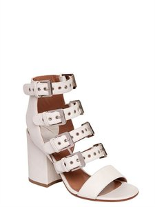 Laurence Dacade Rocker Buckles White Sandals