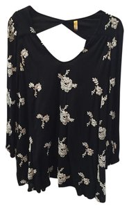 Free People short dress Black Floral Mini on Tradesy