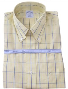 men's Brooks Brothers Button Down Shirt yellow