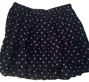 Abercrombie & Fitch Mini Skirt Blue with white polka dots