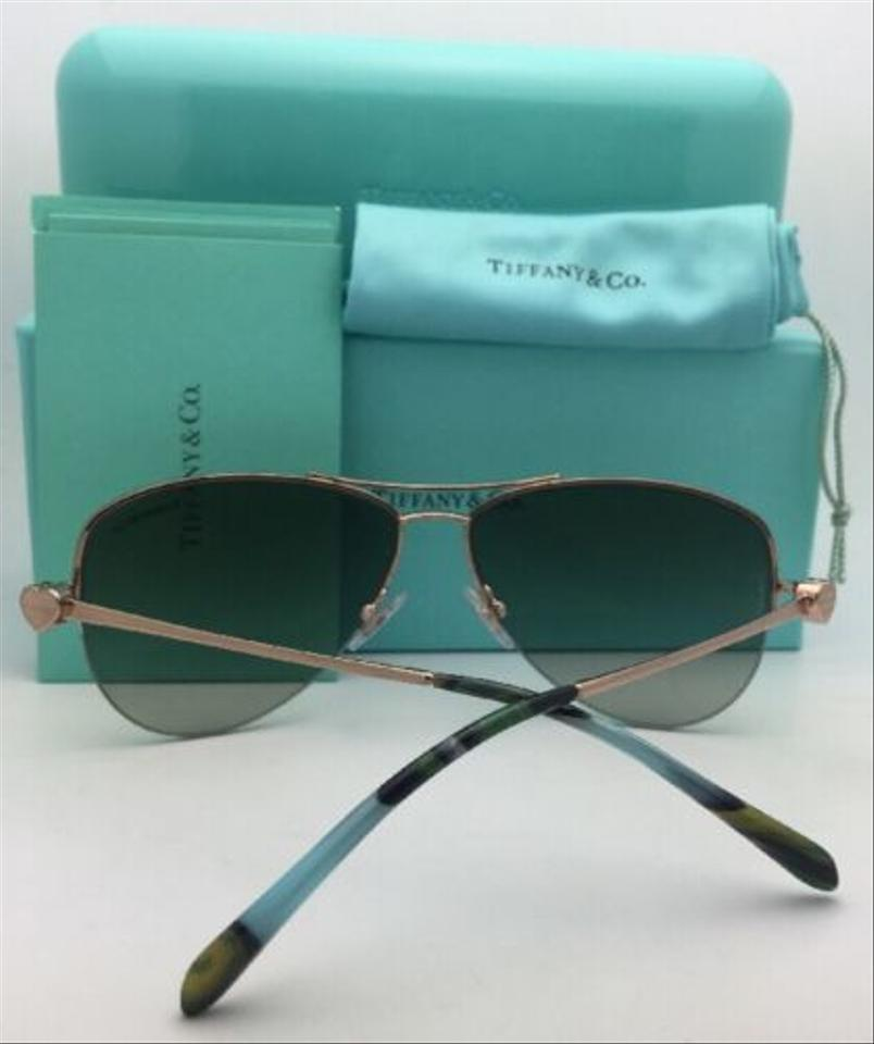 81e4e86d073 Tiffany   Co. Tf 3021 6105 3m Bronze Copper Aviator W  Green Gradient  6105 3m W Green Sunglasses - Tradesy