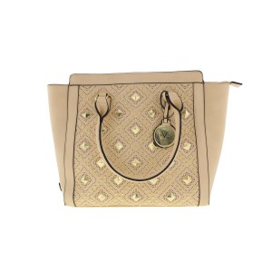 7364976550 Versace 19.69 Studded Tan Purse Italy Tote in Beige