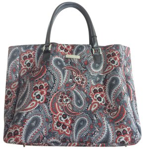 Anne Klein Portland Hld Tote in red multi paisley