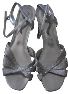 Nina Shoes Wedding Bridesmaid Gray Wedge Silver Formal