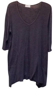 Allen Allen 3/4 Sleeve V-neck Cotton Pockets Tunic