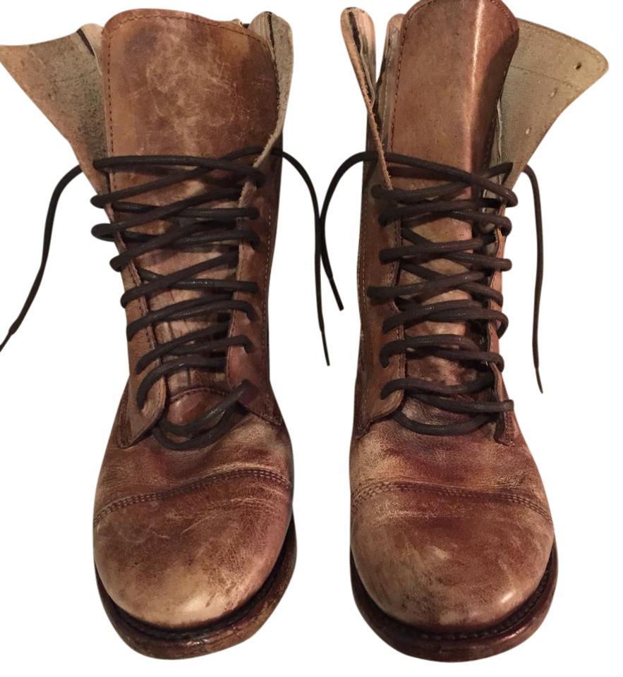 women Bed Stü product Brown Distressed Boots/Booties New product Bed Stü 711851