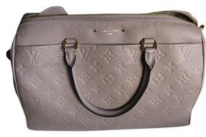 Louis Vuitton Leather Satchel in Mastic