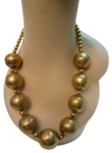 MMA Metropolitan Museum of NY MMA Peruvian Gold Plated Bead Necklace Statement Metropolitan Museum