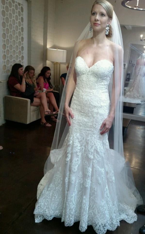 Martina Liana Very Light Blush Lace and Tulle Or Matte-side Lustre ...