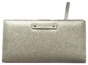 Kate Spade haven lane Stacy bifold wallet silver sparkle