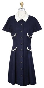 Chanel short dress Navy on Tradesy