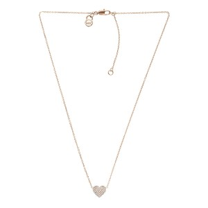 Michael Kors Michael Kors Rose Gold-Tone PaveHeart Necklace MKJ3039