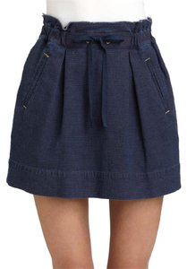 Marc by Marc Jacobs Mini Casual Tie Front Pocket Mini Skirt Blue