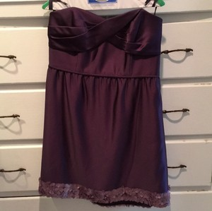 5896a5d8e2aee Melissa Sweet Purple Satin Traditional Bridesmaid/Mob Dress Size Petite 10  (M)