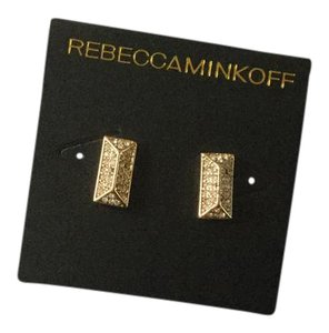 Rebecca Minkoff Pave gold earring
