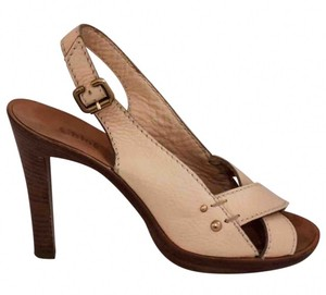 Chloé Chloe Heels Chloe Leather Heels Strappy Beige Sandals