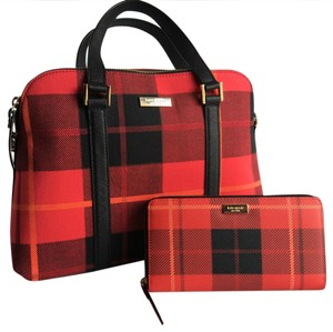 Kate Spade Satchel in Red Plaid
