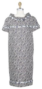 Chanel Shift Tweed Sequin Short Sleeve Dress