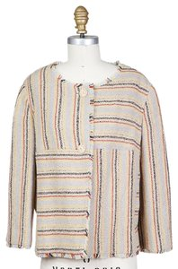 Chanel 03a Fray Striped Tweed multi Jacket