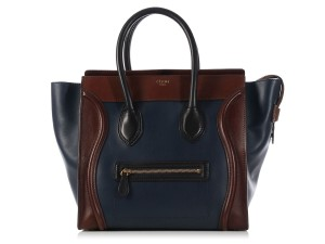 Céline Navy Ce.k1205.10 Brown Black Leather Tote
