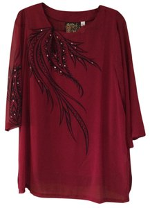 Bob Mackie Top Red and black