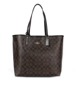 Coach Tote in Chocolate and Black