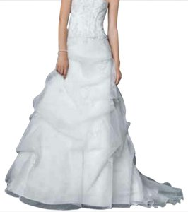David's Bridal White David's Bridal Wedding Dress Wedding Dress