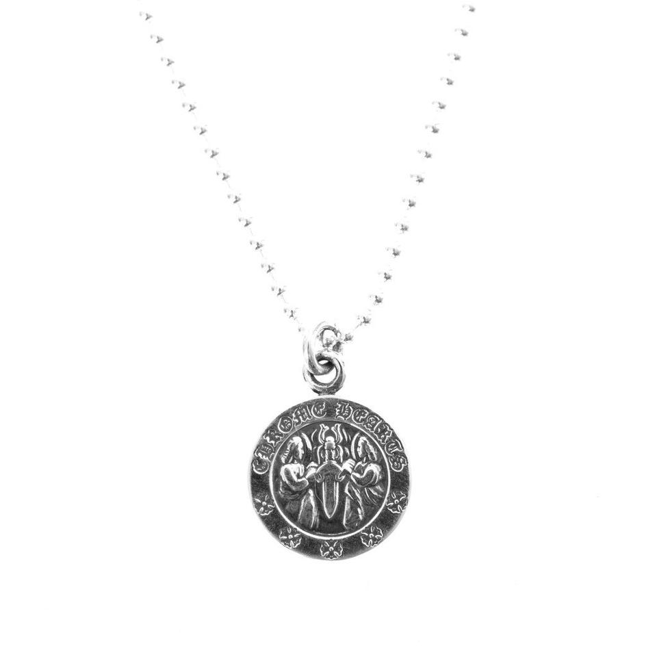 96918cf26220 Chrome Hearts Silver Angel Medallion V2 Necklace - Tradesy