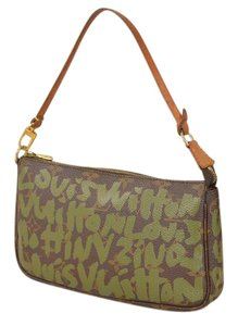 Louis Vuitton Pochette Graffiti Neverfull Monogram Khaki Graffiti Clutch