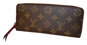 Louis Vuitton Monogram Clemence Wallet with Hot Pink Interior EXCELLENT
