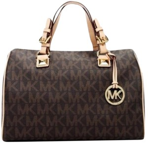 Michael Kors Nwt New With Tags Pvc Logo Satchel in Brown