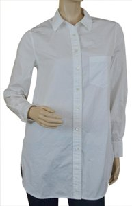 Vince Longsleeve Boyfriend Cotton Button Down Shirt White